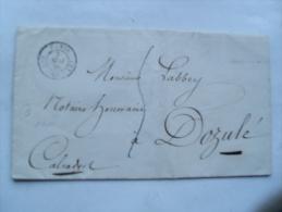 1839 Paris Bureau Quartier D , Timbre A Date Pour Dozule Calvados Timbre A Date Type 13 Arrivee - Storia Postale