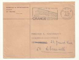 VAUCLUSE - Dépt N° 84 = ORANGE 1966 = FLAMME PP Non Codée =  SECAP Illustrée  'Cité ROMAINE ' - Oblitérations Mécaniques (flammes)