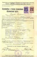 Revenue-Tax Stamp-DIPLOME UNIVERSITE-Yugoslavia-1941 - 1931-1941 Kingdom Of Yugoslavia