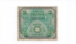 US Army  2 Francs Billet De La Libération  Série 1944 - 1871-1952 Anciens Francs Circulés Au XXème