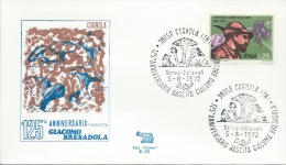 COGNOLA- 125° ANNIVERSARIO NASCITA GIACOMO BRESADOLA- 5-8-1972 - Timbres