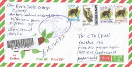 Ethiopia 2008 Burie Woodpecker Bushbuck Millennium Handstamp Barcoded Registered Cover - Ethiopië