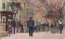 CPA MALTA MALTE  ST JOHN S SQUARE ANIMATION - Malta