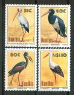1994 Namibia Fauna Cicogne Storks Cicognes Uccelli Birds Vogel Oiseaux Set MNH** B533 - Namibia (1990- ...)