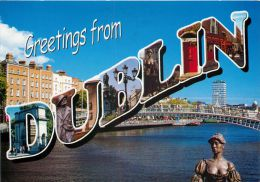 Greetings From Dublin, Co Dublin, Ireland Postcard Used Posted To UK 2011 Stamp - Dublin