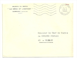 VAUCLUSE - Dépt N° 84 = SARRIANS 1968 =  FLAMME SUPERBE Codée = SECAP Muette '5 Lignes Ondulées' FRANCHISE - Oblitérations Mécaniques (flammes)