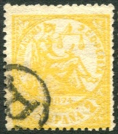 Edifil 143, 2 Cts Amarillo De 1874 Usado - Usados
