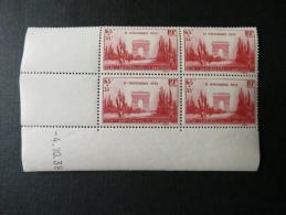 Coin Daté Du 04/10/38 N°403 - Anniversaire De L´Armistice 11 Novembre - 65c + 35c - 1930-1939