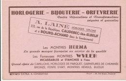 BU 840 A / BUVARD -    HORLOGERIE BIJOUTERIE  MONTRES HERMA   A. LAINE   CAUDEBEC LES ELBEUF ET A BOURG-ACHARD - Buvards, Protège-cahiers Illustrés