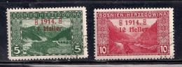 Bosnia & Herzegovina 1914 SC# B1-B2 - Bosnia And Herzegovina