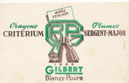 BU 849 A / BUVARD - CRAYONS CRITERIUM  SERGENT-MAJOR - Buvards, Protège-cahiers Illustrés