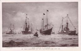 Artist Drawn Naval Review At Spithead 1911 Postcard (S11750) - Bateaux
