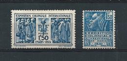France Timbres De 1930/31 N°273/74 Neuf * Charnière (cote 61€) - Frankreich