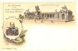 67 - Bas-Rhin - Strasbourg, Centenaire De La Naissance Du Kaiser Wilhelm 1, Tag Der Briefmarke 1943 - Strasbourg