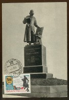 CARTE MAXIMUM CM Card USSR RUSSIA Typogtaphy Ivan Fedorov Monument Sculpture Press Newspaper - 1923-1991 UdSSR