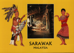 Iban Longhouse In Sarawak - Malaysia