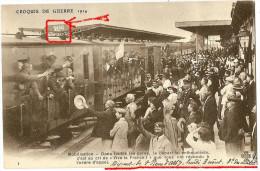 CPA  Savoie 73 St Pierre D'albigny 3 AOUT 1914 - Mobilisation - Dans Toutes Les Gares Le Départ Fut Enthousiaste - Saint Pierre D'Albigny