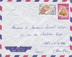 11401# VAUTOUR FAUVE COQUILLAGE LETTRE Obl DJIBOUTI COTE FRANCAISE DES SOMALIS 1963 HAGUENAU BAS RHIN - Lettres & Documents