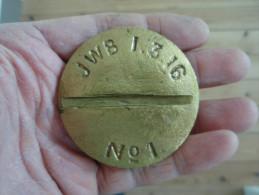 Rare Bouchon Anglais Plat 1.3.1916. WW1. 14-18. - 1914-18