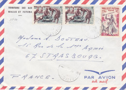 11410# LETTRE Obl MATA UTU WALLIS ET FUTUNA 1971 STRASBOURG BAS RHIN - Covers & Documents