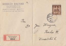 Böhmen Und Mähren R-Brief EF Minr.134 Schwarzenberg 16.5.44 - Böhmen Und Mähren