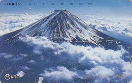 Télécarte Japon / NTT 250-257 - Volcan MONT FUJI ** ONE PUNCH ** - Mountain Japan Phonecard - Berg Telefonkarte - Montagnes