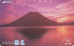 Télécarte Japon / NTT 250-335 - Volcan MONT FUJI & Coucher De Soleil - Mountain Japan Phonecard / A - Berg TK - Montagnes
