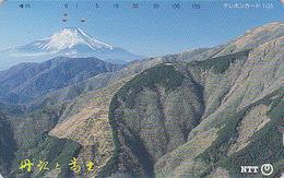 Télécarte Japon / NTT 250-412 - Volcan & MONT FUJI - TTB - Mountain Japan Phonecard / A - Berg Telefonkarte - Montagnes