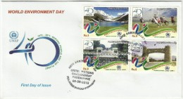 PAKISTAN MNH 2012 FDC FIRST DAY COVER THE WORLD ENVIRONMENT DAY GREEN ECONOMY. - Pakistan