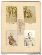 Militaires-1915 -1916-ERNST-STIASSNIE-SAPIN-PIETRI-GAY-110e Régiment Entre Autres-sur Carton épais - Guerre, Militaire