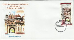 PAKISTAN MNH 2012 FDC FIRST DAY COVER 125TH ANNIVERSARY CELEBRATION OF AITCHISON COLLEGE LAHORE 2012 - Pakistan