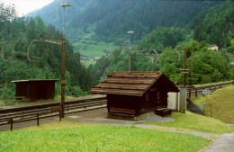 Railway Station Colour  Slide Strassenbahn Switserland, Intschi 27-05-1995 L-19 - Trenes
