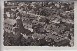 6650 HOMBURG, Marktplatz & Kirche, Luftaufnahme - Saarpfalz-Kreis