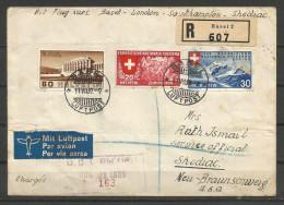 1939 -  TRES BELLE LETTRE RECOMMANDEE - CHARGEE - PAR AVION Avec Bel Affranchissement - Svizzera
