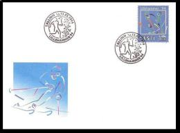 Estonia 1994 Postmark Olympic Games Oppening In Lillehammer SB Slalom - Hiver 1994: Lillehammer