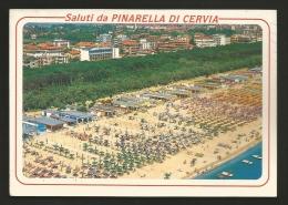 Ravenna - Provincia - Saluti Da Pinarella Di Cervia - Panorama Dall'aereo - Formato Grande - Viaggiata - Ravenna