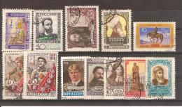 Russie  URSS 1958 / Lot De 12 Timbres Oblitérés Vrac - 1923-1991 URSS