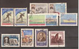 Russie  URSS 1959 /11 Timbres Vrac Oblitérés (yt 2145/2146, 2154/2155, 2163A, 2164, 2165A, 2162, 2171, 2172, Et 2184B - 1923-1991 URSS