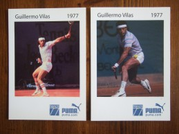 Guillermo Vilas Tennis Player Lot De 2 Cartes Postales - Tennis