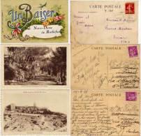 Notre Dame De ROCHEFORT - 3 CPA Avec Cachets Daguins    (65091) - Rochefort-du-Gard