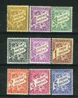 1926-43 MONACO TIMBRES TAXE YVERT ET TELLIER N°18-26 Xx - Taxe