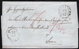 Altbrief Ca. 1840 Aus Göttingen über Arnsberg Nach Bonn Mit Nebenstempel - Germany