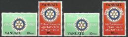 """Vanuatu YT 609 à 612 """" Rotary International """" 1980 Neuf** - Vanuatu (1980-...)"""