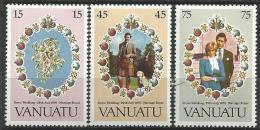 """Vanuatu YT 628 à 630 """" Mariage Royal """" 1981 Neuf** - Vanuatu (1980-...)"""