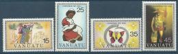 """Vanuatu YT 635 à 638 """" Noël """" 1981 Neuf** - Vanuatu (1980-...)"""