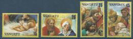 """Vanuatu YT 662 à 665 """" Noël """" 1982 Neuf** - Vanuatu (1980-...)"""