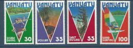 """Vanuatu YT 731 à 734 """" Tourisme """" 1986 Neuf** - Vanuatu (1980-...)"""
