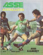 42 Saint Etienne ASSE ACTUALITES N 87 Michel PLATINI 6 Octobre 1981 ASSE/AS NANCY - Sport