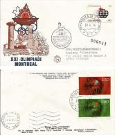 MONTREAL XXI OLIMPIADE 1976 SAN MARINO FDC FILAGRANO - Estate 1976: Montreal