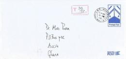 Malta 2006 Marsa Postage Due Taxed Underfranked Postage Paid Stationary Cover - Malta